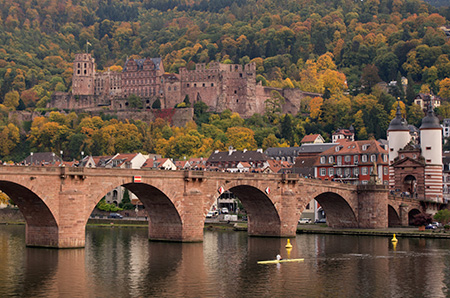 Heidelberg castle in autumn